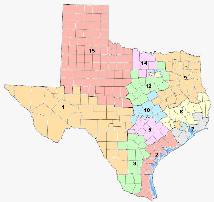 Solomon map for SBOE districts