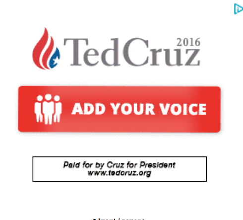 Ted Cruz Drudge Report call to action